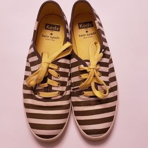 Keds For Kate Spade Striped Sneakers. Sz. 6.5.